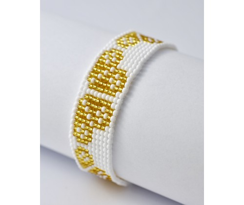 folk bracelet- gold heart
