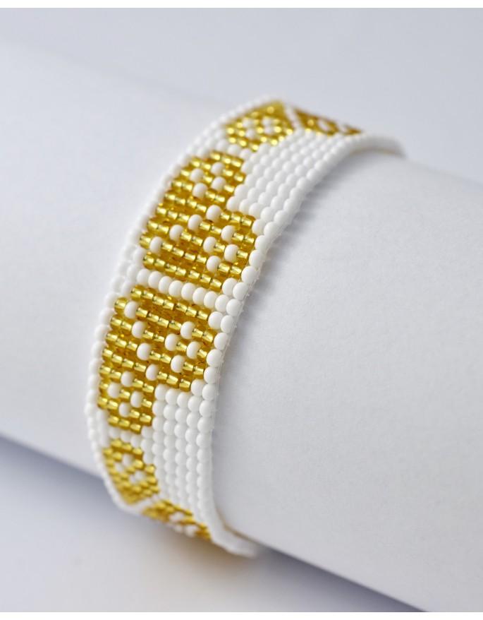 folk bracelet- gold heart