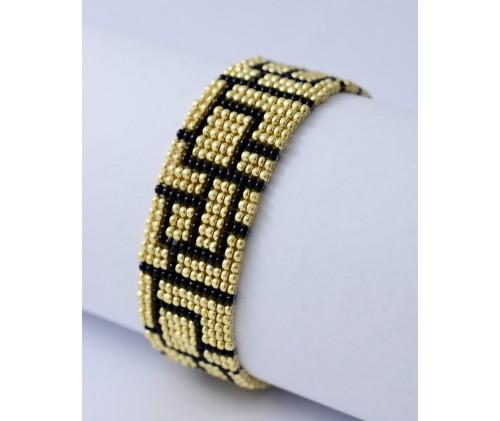 folk bracelet- gold