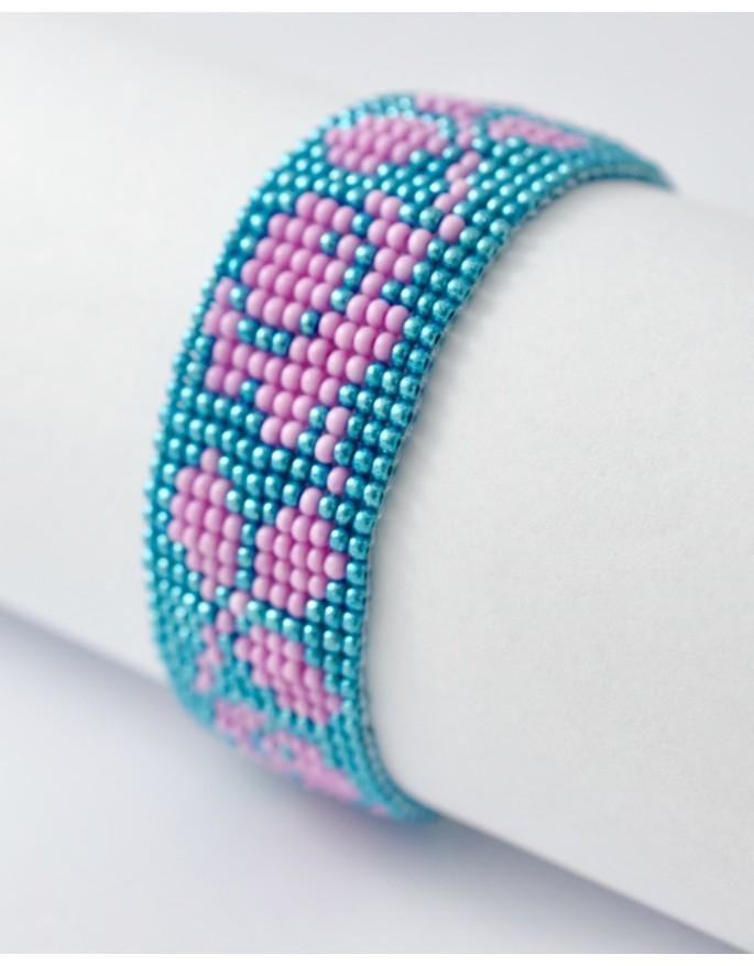 bracelet- pink flower