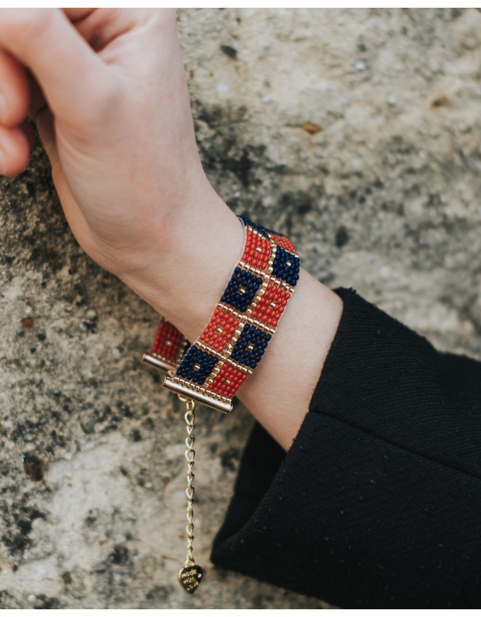 folk bracelet- squares